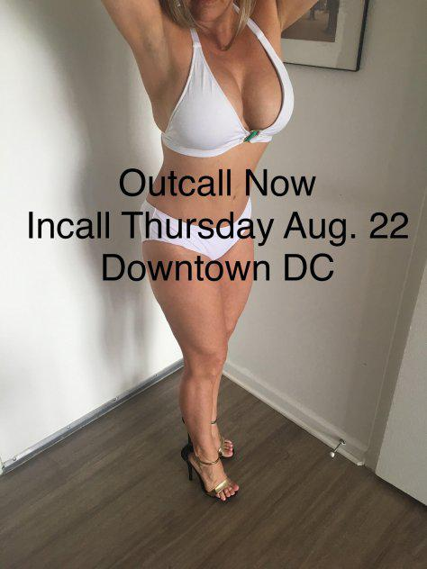 INCALL AUG. 22 IN DC- Busty Well Reviewed Blonde Waiting For You